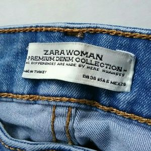 Zara Jeans - Zara Mid Rise Distressed Released Hem Skinny Jeans